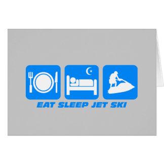 Esquí divertido del jet tarjeta de felicitación