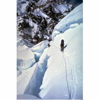 Esquí durante invierno del paso de Kahiltna Escultura Fotográfica