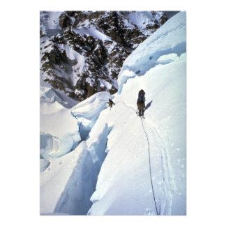 Esquí durante invierno del paso de Kahiltna Comunicados Personales