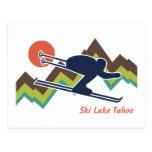 Esquí el lago Tahoe Tarjeta Postal