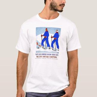 Esquí en camiseta del vintage de Nueva York