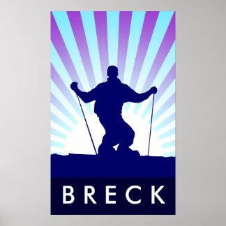 esquí en declive breckenridge póster