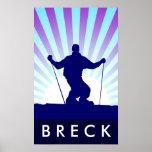 esquí en declive breckenridge posters