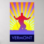 esquí en declive Vermont Impresiones
