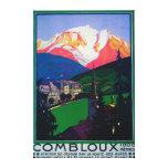 Esquí en el poster promocional de Combloux Impresiones En Lona
