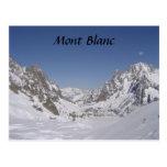 Esquí en un glaciar tarjeta postal