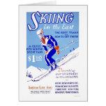 Esquí en WPA del este 1939 Tarjeta De Felicitación