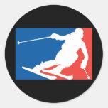 Esquí Etiqueta Redonda