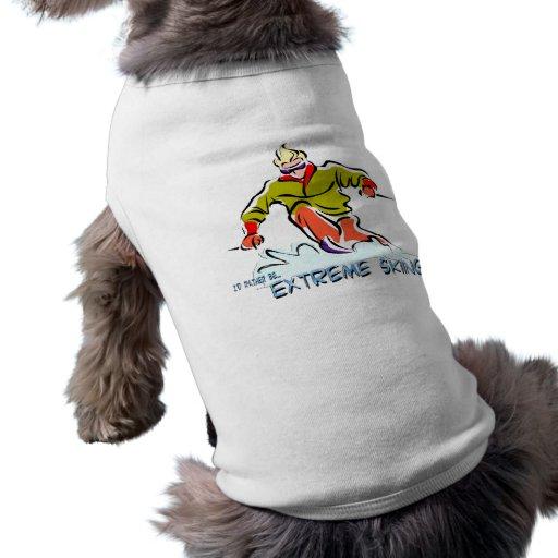 Esquí extremo camisa de perrito
