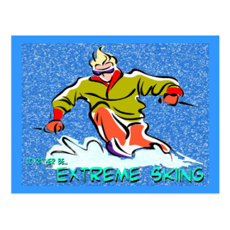 Esquí extremo tarjeta postal
