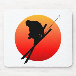 Esquí fresco de Sun Tapetes De Ratones