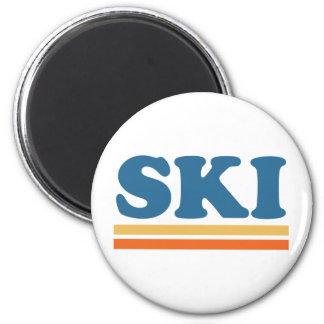 esquí imán para frigorífico