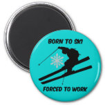 Esquí Imán De Frigorifico