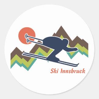 Esquí Innsbruck Pegatina Redonda