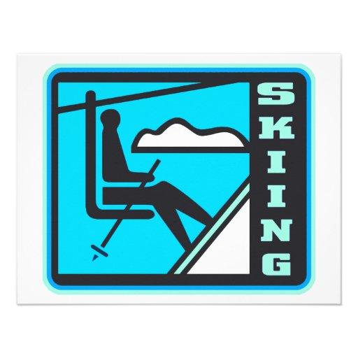 Esquí Invitaciones Personales