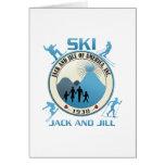 Esquí Jack y materia del azul de Jill Felicitacion