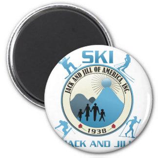 Esquí Jack y materia del azul de Jill Imán Redondo 5 Cm