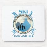 Esquí Jack y materia del azul de Jill Tapete De Ratones