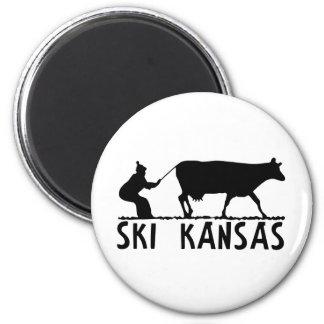 Esquí Kansas Imán Redondo 5 Cm