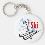 esquí llavero personalizado