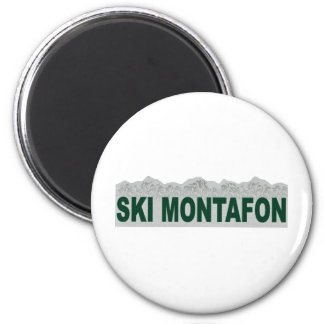 Esquí Montafon Imanes De Nevera