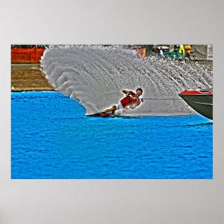 Esquí náutico-Pared del eslalom del poster del aer