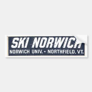 esquí Norwich Etiqueta De Parachoque