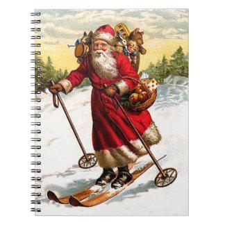 Esquí Papá Noel Libreta