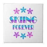 Esquí para siempre azulejos