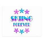 Esquí para siempre postal