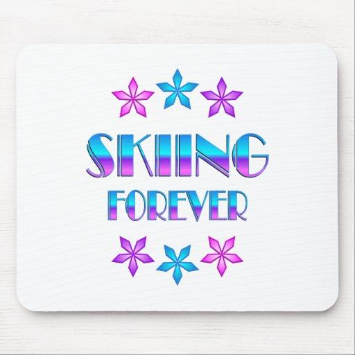 Esquí para siempre tapetes de ratón