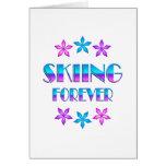 Esquí para siempre tarjetón