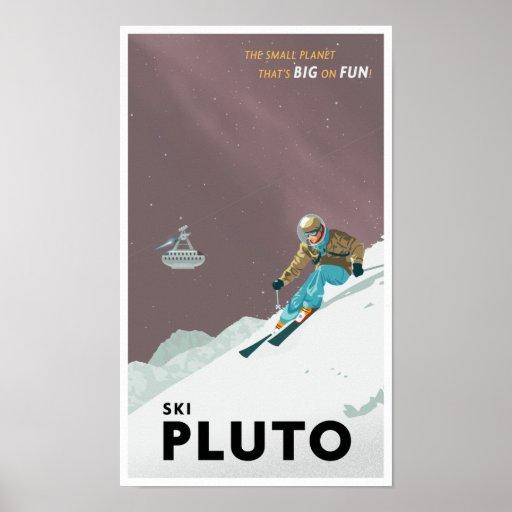 Esquí Plutón Póster