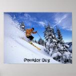 esquí-por-nieve-wallposter impresiones