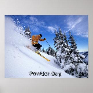 esquí-por-nieve-wallposter póster