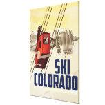 ¡Esquí! Poster del viaje del vintage de Colorado Impresión En Lienzo