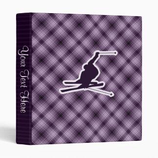 "Esquí púrpura de la nieve carpeta 1"""