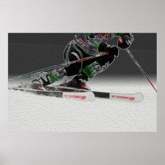 Esquí que compite con el poster D1368-038