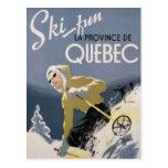 Esquí Quebec Tarjetas Postales
