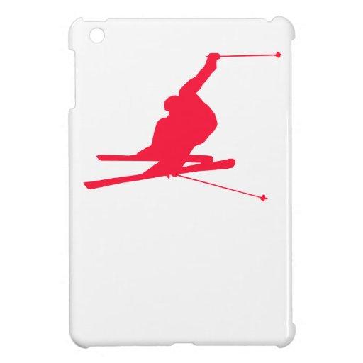 Esquí rojo de la nieve del escarlata