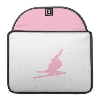 Esquí rosa claro de la nieve funda para macbook pro