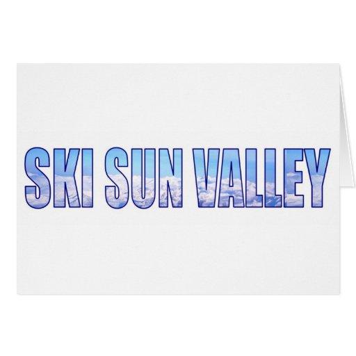 Esquí Sun Valley Tarjeta De Felicitación