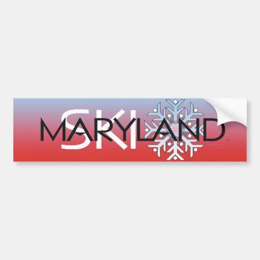 Esquí SUPERIOR Maryland Etiqueta De Parachoque