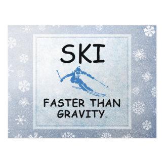 Esquí SUPERIOR más rápidamente que gravedad Postal