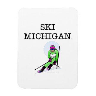 Esquí SUPERIOR Michigan Imán Foto Rectangular