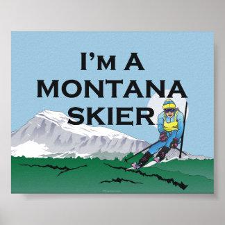 Esquí SUPERIOR Montana Póster