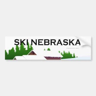 Esquí SUPERIOR Nebraska Pegatina De Parachoque