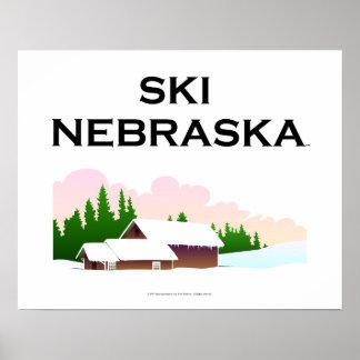 Esquí SUPERIOR Nebraska Posters
