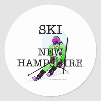 Esquí SUPERIOR New Hampshire Etiqueta Redonda
