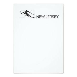 """Esquí SUPERIOR New Jersey Invitación 5"""" X 7"""""""